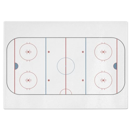 Ice Hockey Rink Tempered Glass Chopping Board